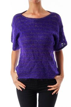 Like this Christian Dior knit? Shop this without using money! Trade. Shop. Discover. #fashionexchange #prelovedfashion  Purple Round Neck Fuzzy Knit by Christian Dior