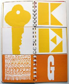A to Z picto/typoographic color matching flipbook by legendary graphic designer Bob Gill, 1962