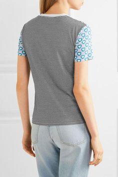 Miu Miu - Printed Jersey T-shirt - Blue - x large
