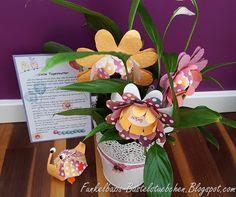 Geschenkeset, Faltblume stampin up, 3D Schnecke, Schnecker´l, Abschiedsgedicht, Tagesmutter, Blumentopf