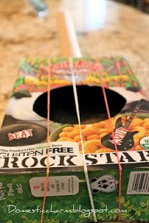 Cereal box guitar - I remember making one of these when I was a kid!