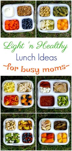 Healthy Summer lunches for busy moms that are perfectly portioned and easy to transport whether it's to the office or to the pool for a picnic!