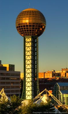 Sunsphere Tower, Knoxville, Tennessee.  Built for the World's Fair 1982. the year  I started college @ The University of Tennessee