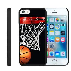 Apple iPhone SE Case SNAP SHELL 2 Piece Design Case - Basketball Swish