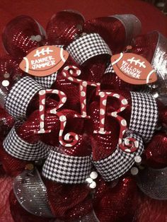 Alabama Crimson Tide deco mesh wreath by on Etsy Alabama Football Wreath, Alabama Wreaths, Alabama Crafts, Bama Fever, Cheer Camp, Sports Wreaths, Camping Gifts, Christmas Decorations, Holiday Decor