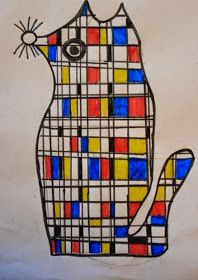 """I finally got around to trying out the popular """"Mondrian Animals"""" lesson. I originally saw it in """"Arts & Activities"""" magazine by art ..."""