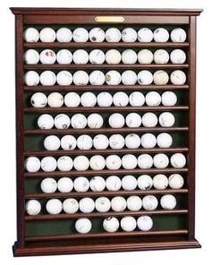 Oak Golf Ball Display Case Wall Cabinet Rack by fwdisplay on Etsy ...