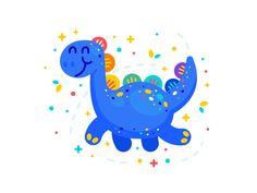 Fantasy Dinosaur Illustration