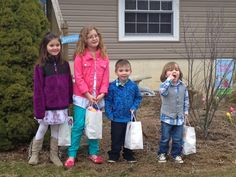 Flat Stanley went to Flanders, N.J., for Easter. He had a lot of fun with our cousins looking for Easter eggs and candy. (He's in the bag already digging into the goodies!)