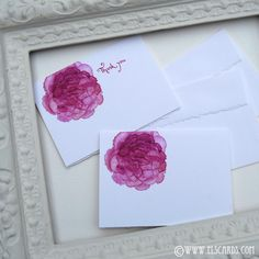 Shabby Chic Peony thank you notes - elscards.com