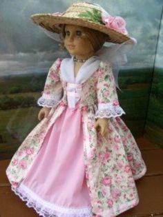 COLONIAL DRESS 4 AMERICAN GIRL DOLL FELICITY~ELIZABETH (09/22/2009)