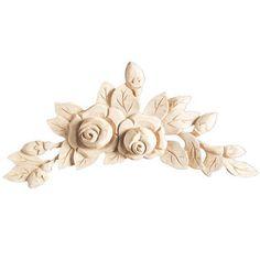 Van Dykes Catalog, Great Resource for Repurposing: Legacy Artisan 14 1/2 Inch Rose Wood Applique