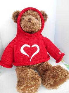 """Gund Strawbridge's Millennium Bear Love 2000 26"""" Red Sweater Hoodie #Gund #AllOccasion"""