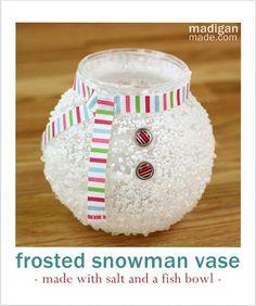 Epsom Salt Snowman Vase ~ Madigan Made { simple DIY ideas }