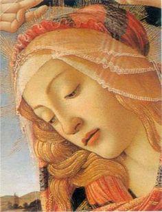Sandro Botticelli - Renaissance - The Madonna of the Magnificat (detail), Portrait Renaissance, Renaissance Kunst, Renaissance Paintings, Italian Renaissance, Giorgio Vasari, Madonna, Italian Artist, Religious Art, Catholic Art