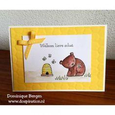 Stampin'Up! Bloghop 100%NL  , a little wild, Mooiste momenten, nederlandse stempelset, baby kaart, kinderverjaardag, beer en leeuw, bear and lion, watercolor