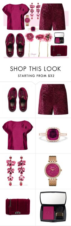 """""""Soft Berry"""" by gemique ❤ liked on Polyvore featuring Puma, KEEP ME, Miss Selfridge, Raoul, Effy Jewelry, Etro, Caravelle by Bulova, Rebecca Minkoff and Lancôme"""