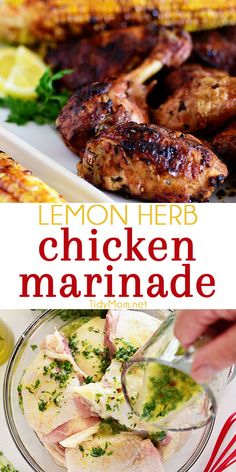 Prepare This Easy Lemon Herb Chicken Marinade Earlier In The Day And Enjoy Delicious Chicken Hot Off The Grill For Dinner Print Full Recipe At Herb Chicken Recipes, Grilled Lemon Chicken, Lemon Herb Chicken, Chicken Marinade Recipes, Chicken Marinades, Marinade For Chicken Easy, Best Grilled Chicken Marinade, Fried Chicken, Vegan Kitchen