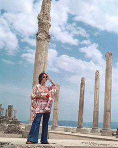 Elizabeth Taylor's snapshot in Persepolis Iran 1976