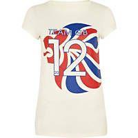 White team GB print t-shirt