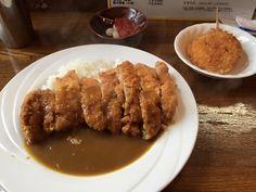 ビーフカレー&鶏モモかつと玉ねぎ串