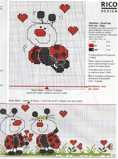cross stitch pattern ladybug rico - Google keresés