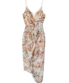 Zimmermann Floral Plunge Drape Dress