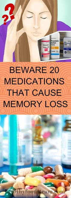20 Medications That Have Been Shown to Cause Memory Loss - Healthy Treats, Healthy Drinks, Healthy Recipes, Healthy Foods, Healthy Mind, Cognitive Problems, Plant Based Recipes, Health Problems