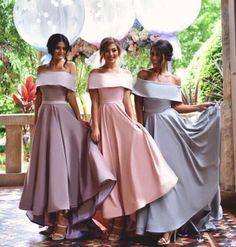 Off Shoulder Bridesmaid Dresses,Simple Bridesmaid Dress,New Arrival bridesmaid