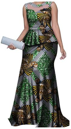 Traditional African Clothing Dashiki 2 Pieces Skirts Sets Ankara Dresses Formal with Headtie Bazin Riche Women Clothes Short African Dresses, Latest African Fashion Dresses, Ankara Dress Styles, Kitenge Designs Dresses, African Fashion Traditional, African Print Dress Designs, African Attire, Clothing Accessories, Punk Fashion