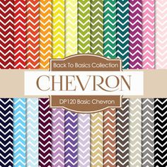 Basic Chevron Digital Paper DP120 - Digital Paper Shop - 1
