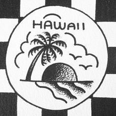 Old school Hawaii tattoo flash