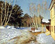 Isaac Ilyich Levitan - March, (1895). Oil on canvas, 60 x 75 cm. The State Tretyakov Gallery, Moscow, Russia.