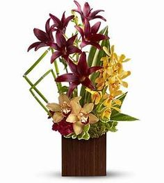 Tropical or exotic flower arrangements