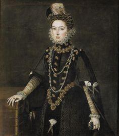 Infantin Catalina Micaela de Austria, Duchess of Savoy [1585]   by Sofonisba Anguissola (1532-1625), female Italian Renaissance painter