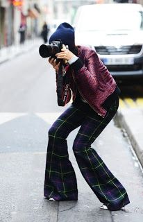 heels, plaid bell bottoms & photography