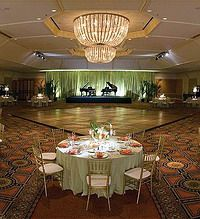 A photo of the beautiful ballroom at the Fairmont Chicago.