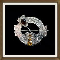 Antique Scottish Silver Gem Set Tara Brooch   £175.00