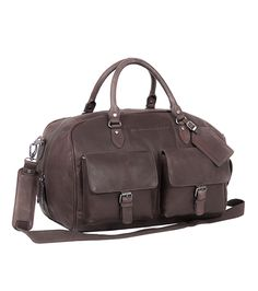 The Chesterfield Brand Brown Leather Weekend Bag Overnight Bag