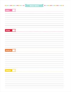 UNPLAN PLANNER PAGES » MissTiina.com {Blog}