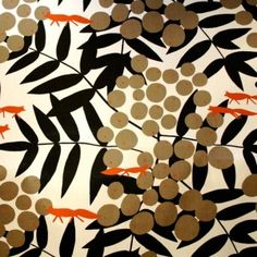 Scandinavian print designed by Kerstin Boulogner in the 1950's
