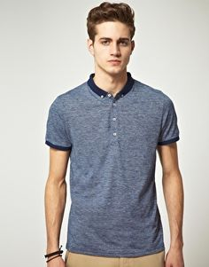 ASOS Polo Shirt With Twisted Yarn