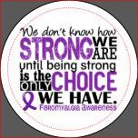 "See our complete and exclusive selection of Fibromyalgia designs featuring inspiring quotes by visiting     ""We Don't Know How Strong We Are Until Being Strong Is The Only Choice We Have"" (author unknown).  Share this empowering sentiment while advocating Fibromyalgia awareness with our line of inspiring t-shirts, apparel, and merchandise featuring a variety of text fonts and purple Fibromyalgia support ribbon.  Perfect gift idea for any Fibromyalgia warrior or survivor!    As cancer…"