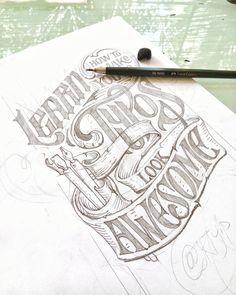 Incredible lettering sketch by @krishnakastubi - #typegang - free fonts at typegang.com | typegang.com #typegang #typography