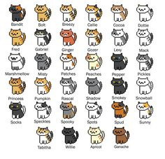 Create your own adorable little nekos to display with these precious patterns inspired by the popular game Neko Atsume! These small patterns are perfect for beginners, small framed projects, bookmarks and gifts!  ❤❤❤ This is a DIGITAL DOWNLOAD for a PATTERN ONLY! ❤❤❤  Now includes GANACHE AND APRICOT! Did you purchase the full set when it was only 32 nekos? Message us from the account you purchased on and we will send you Ganache and Apricot for no extra charge!  There is no physical item…