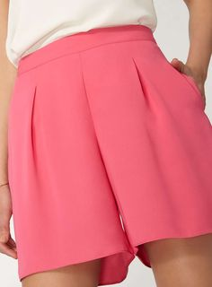Dorothy Perkins Pink Pleated Front Shorts Culottes
