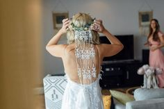 Unique lace veil by