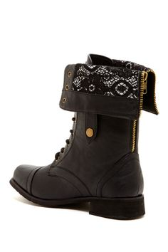 Lace Lining Combat Boot