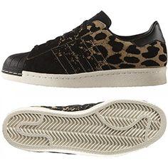 dff83c628e3 Adidas Originals Superstar 80s W S81328 Black Nappy Suede Cheetah Women s  Shoes (size 6.5)