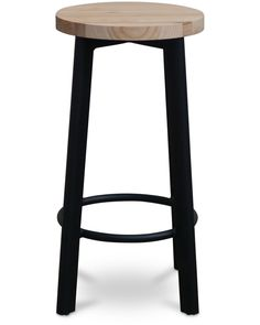 Jack indoor bar stool - black, 75cm - Cintesi